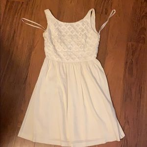 Antonio Melanii White Linen Dress